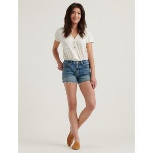 Lucky Brand Mid-Rise Cut off Denim Shorts Size 31